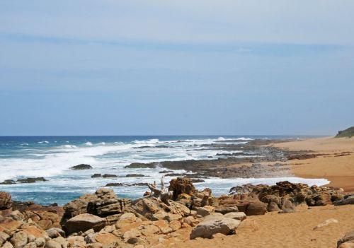 jūra, vanduo, vandenynas, bangos, cresting, balta, putos, kranto linija, papludimys, akmenys, bangos skliautais į akmenis