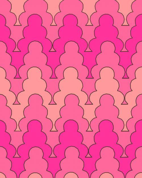 banguotas, retro, fonas, modelis, dizainas, oranžinė, persikas, rožinis, atspalvių, šiltas, banguotas šiltas fonas