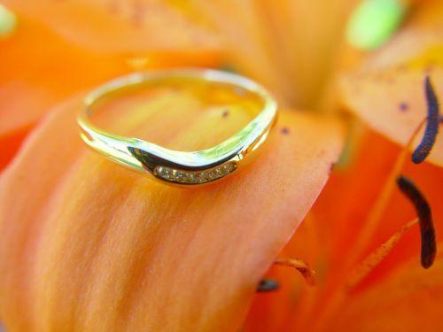 Vestuvinis žiedas,žiedas,gėlė,Auksinis Žiedas,aukso deimantas,gražus