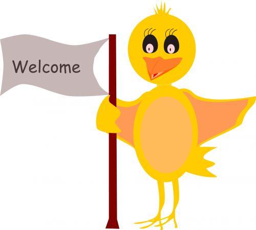 Sveiki, viščiukas, gyvūnas, paukštis, geltona, vektorius, Sveiki