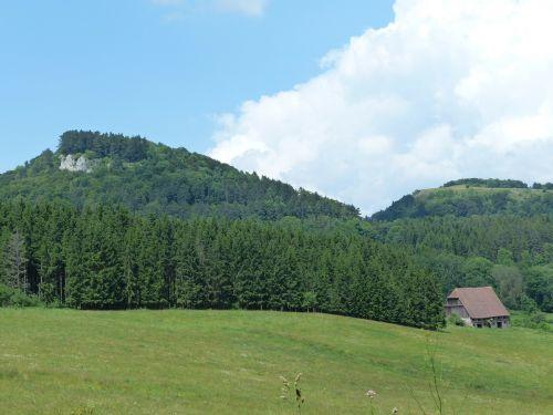 wenzelio akmuo,vasaros diena,swabian alb,Punch,avių kalnas,Zollernalb,albų karnizai,žygis,daugiau,alb hike,ekskursijos diena,Kelionės tikslas,swabian alb nordrand maršrutas,Balingen kalnai,balingen