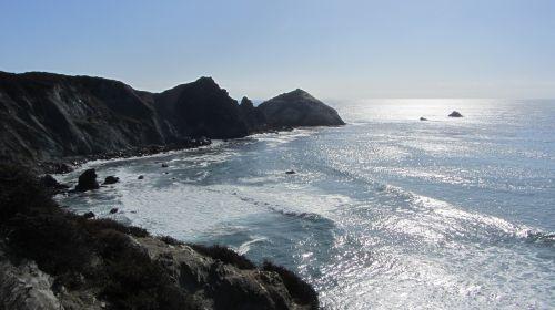 vakarinė pakrantė,vandenynas,jūros vaizdas,Ramiojo vandenyno pakrantė,svajonių kelias,Jungtinės Valstijos,jūra,kranto