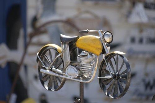 ratas, įranga, Motociklų, menas, metalo-art, vėjo žaidimai, metalo, žaislai, Žaislai pagaminti iš metalo, metalo tipo, metalo žaislai, lapas, iš lakštinio metalo, alavo žaislai, Deco, apdaila, gartendeko