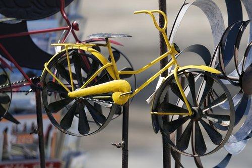 ratas, dviratis, ratai, metalo, dviračiu Sportas, spalvingas dviratis, menas, metalo-art, vėjo žaidimai, metalo tipo, metalo žaislai, Žaislai pagaminti iš metalo, lapas, iš lakštinio metalo, alavo žaislai, apdaila, išorinė apdaila, gartendeko, sodo puošmena
