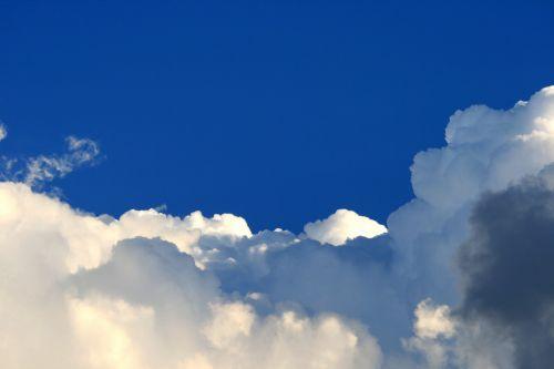 dangus, mėlynas, debesis, balta, masė, baltos debesies masė