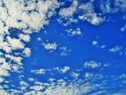 dangus, debesys, balta, plyšiai, baltas dangus labai mėlynas dangus
