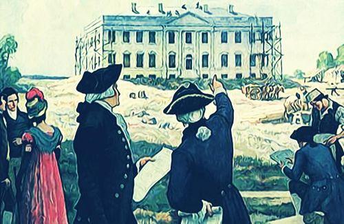baltas namas,Džordžas Vašingtonas,patriotas,įkūrėjai,amerikietis,Vašingtonas,Vašingtonas,usa,prezidentas,architektūra,orientyras,pastatas,amerikietis,dc,dažymas