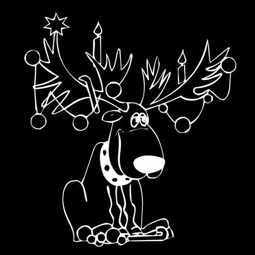 Kalėdos, balta, xmas, briedis, piešimas, juoda, antlers, fonas, doodle, dekoracijos, gyvūnas, laukiniai, elnias, baltas briedis