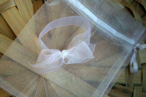krepšelis, dovanos & nbsp, krepšys, balta, subtilus, lankas, dekoratyvinis, baltas organzos lankas ir dovanų krepšys