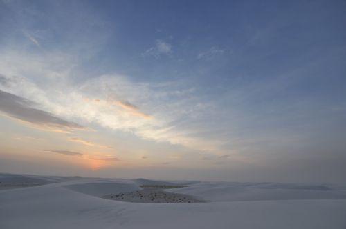 balta, smėlis, nacionalinis, paminklas, naujas, Meksika, smėlis, dykuma, balta, dykuma, saulėlydis, dangus, debesis, balta smėlis 8