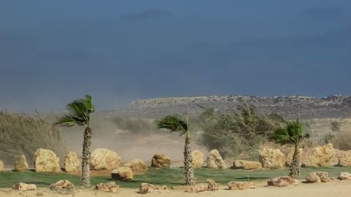 Vėjas, Dulkės, Oras, Klimatas, Vėjuota, Oras, Smėlio Audra, Kipras