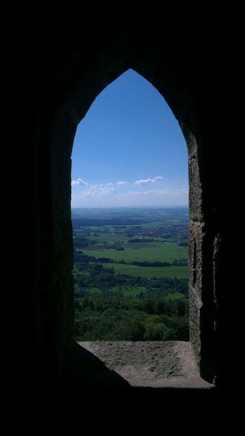 langas,pilies langai,pilis,kraštovaizdis,žemė,perspektyva,toli,toli