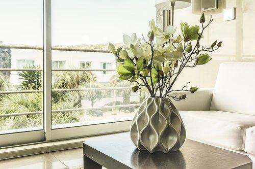 langas, vaza, namo viduje, viduje, Šiuolaikinio, kambarys, baldai, namai, Hipster, stiklo, šeima, butas, sofa, kambarinis augalas, Casa RK