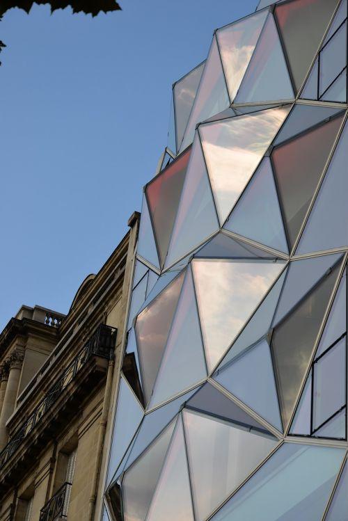langai,atspindys,dangus,paris,kontrastas,moderni architektūra,stiklo architektūra,architektūra,pabrėžia,langas