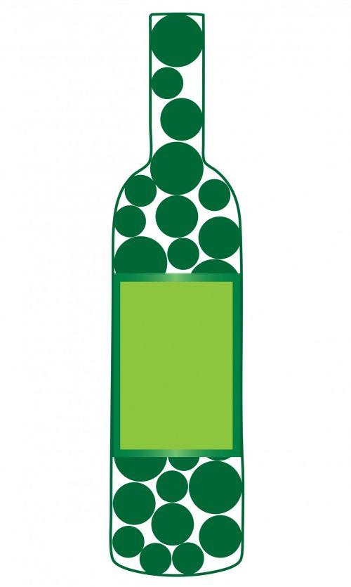 vynas, butelis, vynas & nbsp, butelis, žalias, burbuliukai, apskritimai, etiketė, tuščias, tuščia & nbsp, etiketė, Iliustracijos, Scrapbooking, iliustracija, menas, vyno butelio tuščia etiketė