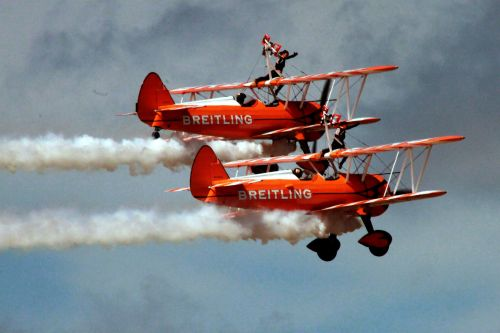 lėktuvas, biplanas, sparnas, Walker, skraidantis, sparnas pėsčiomis