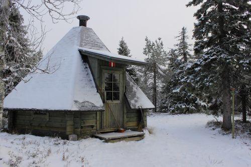 žiema,Laplandas,namelis,sniegas,efi,holodo,medinis namas,gamta,miškas,po sniegu,žiemos miškas