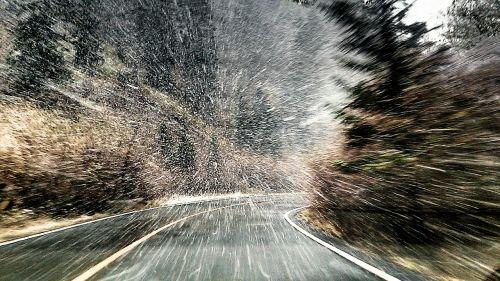 žiema,stiprus sniegas,kelias,sniegas,vaizdas,lenktynės