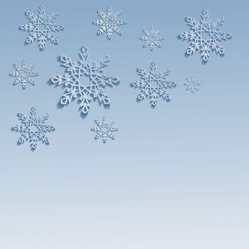 sniegas, snaigės, Kalėdos, nauji & nbsp, metai, šventė, fonas, mėlynas, šaltas, 3d, vektorius, iliustracija, kortelė, erdvė, žiema fone