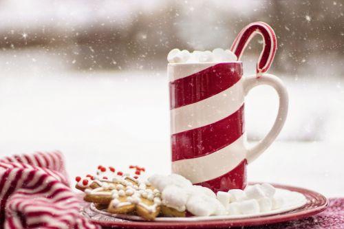saldainiai, nendrės, sniegas, kakava, karštas, šokoladas, gydyti, maistas, Zefyras, slapukas, saldus, viešasis & nbsp, domenas, tapetai, fonas, lauke, žiema, šaltas, šventė, linksma, atsipalaidavimas, žiemos atsipalaidavimas