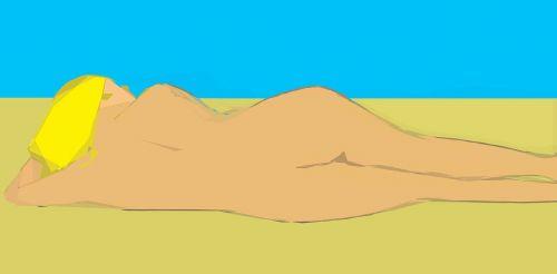 moteris,Šviesiaplaukis,papludimys