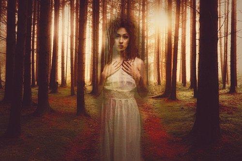 moteris, fantazija, svajoti, mįslingas
