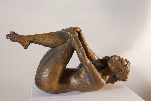 moteris,sulankstytas,skulptūra,sveikata