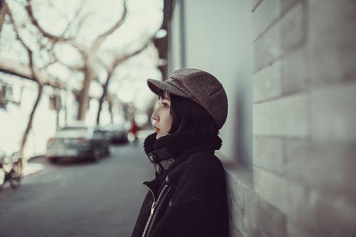 moteris,modelis,gatvė,Pekino grožis,grožis,kinų grožis,universiteto studentas