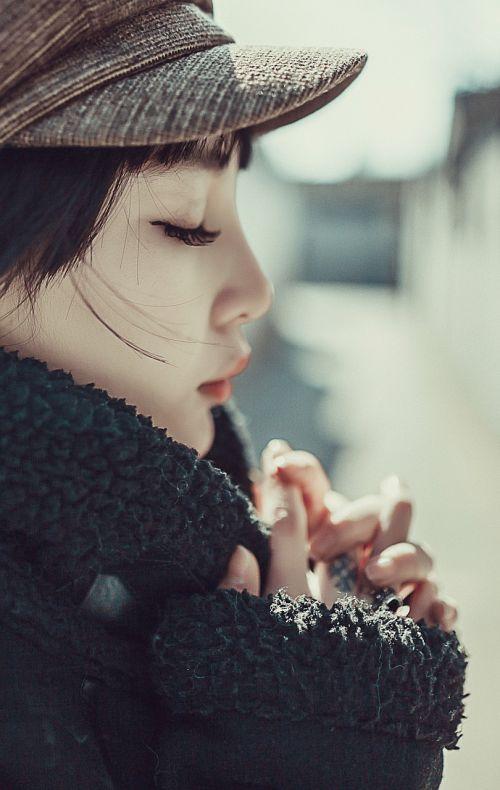 moteris,iš šono,malda,Pekino grožis,grožis,universiteto studentas,mergaitės