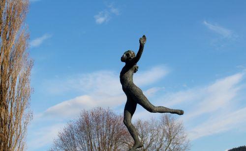 moteris,skulptūra,meno kūriniai,Lengvai,išaukštintas,parkas,Rorschach,Šveicarija,fonas