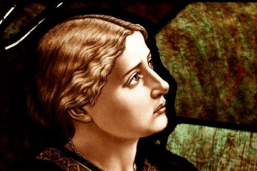 menas, meno kūriniai, katedra, katalikų, krikščionis, bažnyčia, stiklas, Evangelija, dažymas, religinis, dažytas & nbsp, stiklas, langas, moters veidas, vitražas