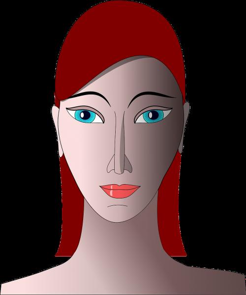 moterų galva,portretas,suaugęs,patrauklus,glamoras,Iš arti,makiažas,grožis,raudona galva,mergaitė,moteris,galva,veidas,puikus,nemokama vektorinė grafika
