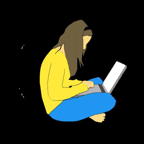 moterys,nešiojamas kompiuteris,žmonės,internetas,gyvenimo būdas,kompiuteris,darbo,skaitmeninis,mokymasis,dirbti namuose,skaitymas,technologija,studentas,žiūri,jaunas suaugęs,naudojant nešiojamą kompiuterį,jauna moteris,suaugęs,Socialinis tinklas,atsitiktiniai drabužiai,sėdi,rašyti,kūrybiškumas,įkvėpimas,idėjos,dalijimasis