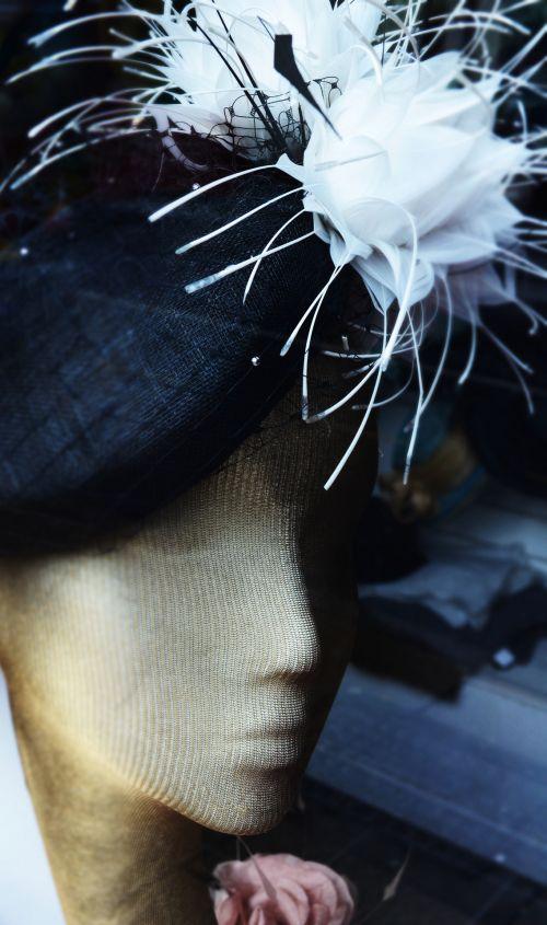 moterys, skrybėlę, figūrėlė, dekoracijos, folija, mada, moteriškos kepurės ir figūrėlės