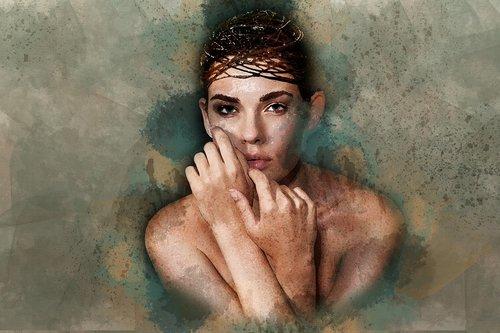 moterų, modelis, mergina, gražus, Grožio modelis, jauna modelis, veidas, portretas, Moteris, žmogus, žmogus, patrauklus, skaitmeninis manipuliavimo, fotomenas, Nemokama iliustracijos