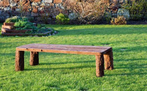 mediena,stendas,sodas,ornamentas,medinis,sėdynė,žalias,lauke,baldai,žolė,veja,galinis kiemas,atsipalaiduoti