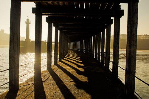 medinis, stulpai, senas, jūra, švyturys, Whitby, koridorius, fonas, mediena, architektūra, turizmas, kelionė, mediniai stulpai