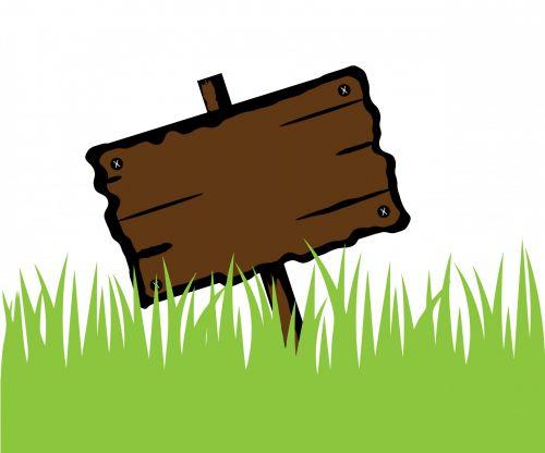mediena, medinis, iškabą, žolė, žalias, skelbimų lenta, tuščias, lenta, ženklas, pastebėti, pranešimas & nbsp, lenta, skelbimų lenta, menas, ilgai, iliustracija, dizainas, Scrapbooking, medinis iškabas žolėje