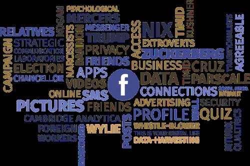 žodis debesis, Facebook, privatumas, duomenys, socialinė žiniasklaida, jungtys, draugai, skandalas, neteisėtas, rinkimai, saugumas, internetas, dienoraštis, grafika, nemokama vektorinė grafika, be honoraro mokesčio