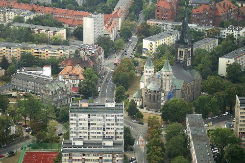 Wrocław,miestas,namai,vaizdas iš viršaus,architektūra,bažnyčia,seni pastatai,nauji pastatai,pastatai,gatvė,miesto gyvenimas,miestas iš viršaus,Mano miestas,draugiškas miestas,Silezijos sukilėlių zona