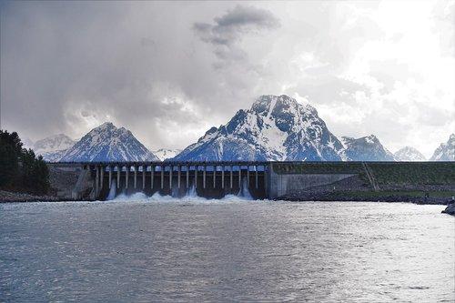 Vajomingas, užtvanka, Gyvačių upė, žygiai, atostogos, upė, kalnai