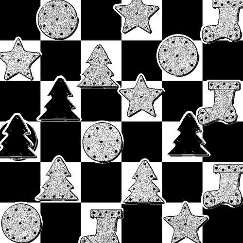 xmas, tikrintojas, Kalėdos, fonas, žvaigždė, kojinė, medis, daiktai, modelis, tekstūra, šventė, juoda, balta, xmas checker