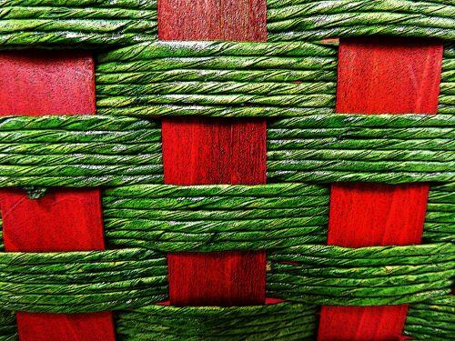 tekstūra, raudona, žalias, Iš arti, pinti austi, krepšelis, modelis, Kalėdos, xmas, šventė, xmas austi krepšinio fonas