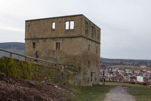 y pilis,stetten,senas,pasibaigė,pilis,mūra,sugadinti,akmuo,vynuogynas,Vokietija,stetten į remstal,remstal