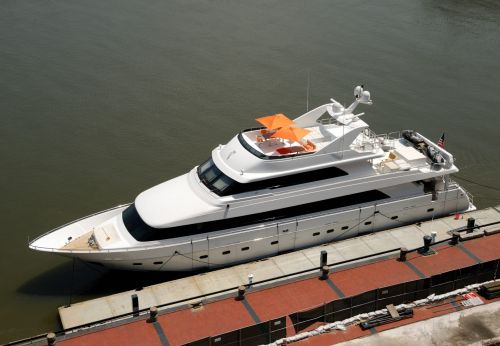 jachta, prabanga, laivas, jūrinis, gabenimas, valtis, prijungtas, švartuotas, savana, Gruzija, upė, jachta prijungta prie savanos, Gruzija