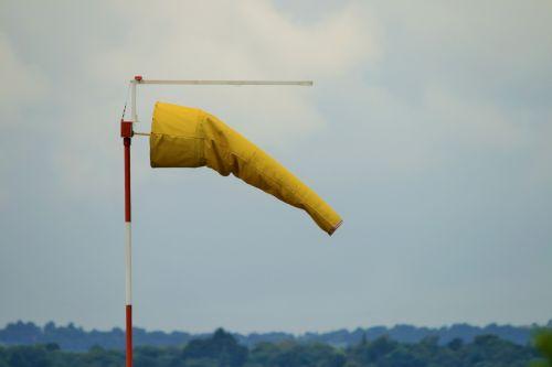 Windsock,  Geltona,  Vėjas,  Aerodromas,  Indikatorius,  Geltonas Vėjo Lynas