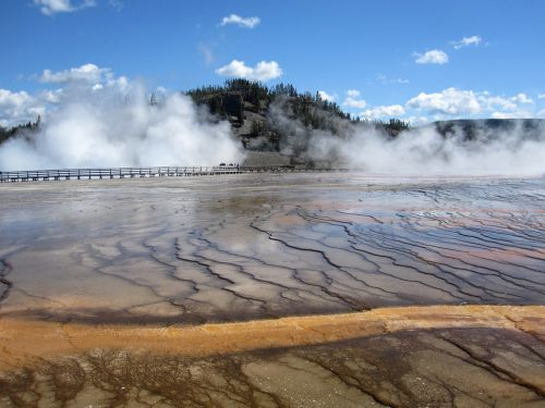geltonas akmuo,Nacionalinis parkas,usa,geltonojo akmens nacionalinis parkas,Vajomingas,terminis pavasaris,baseinas,karštas,garai,vulkanizmas