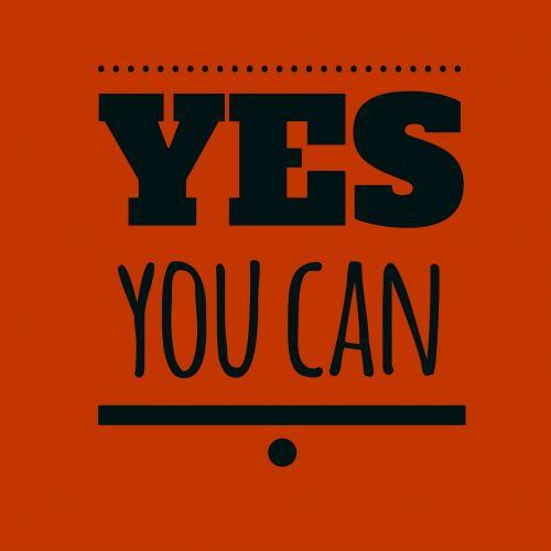 taip, tu, gali, tekstas, juoda, raidės, raudona, fonas, pranešimas, informacija, informacija, citata, patarimai, taip tu gali