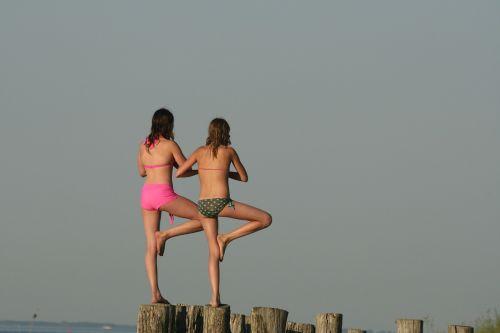 joga,moteris,mergaitės,laikysena,fitnesas