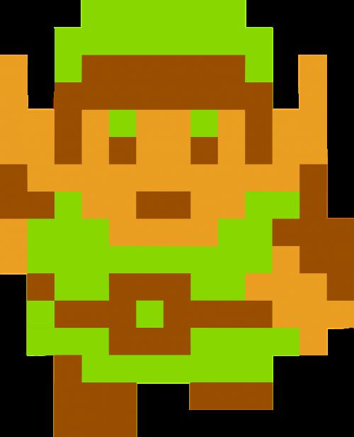 Zelda,nuoroda,legenda,Nes,Nintendo,famicom,triforce,nemokama vektorinė grafika